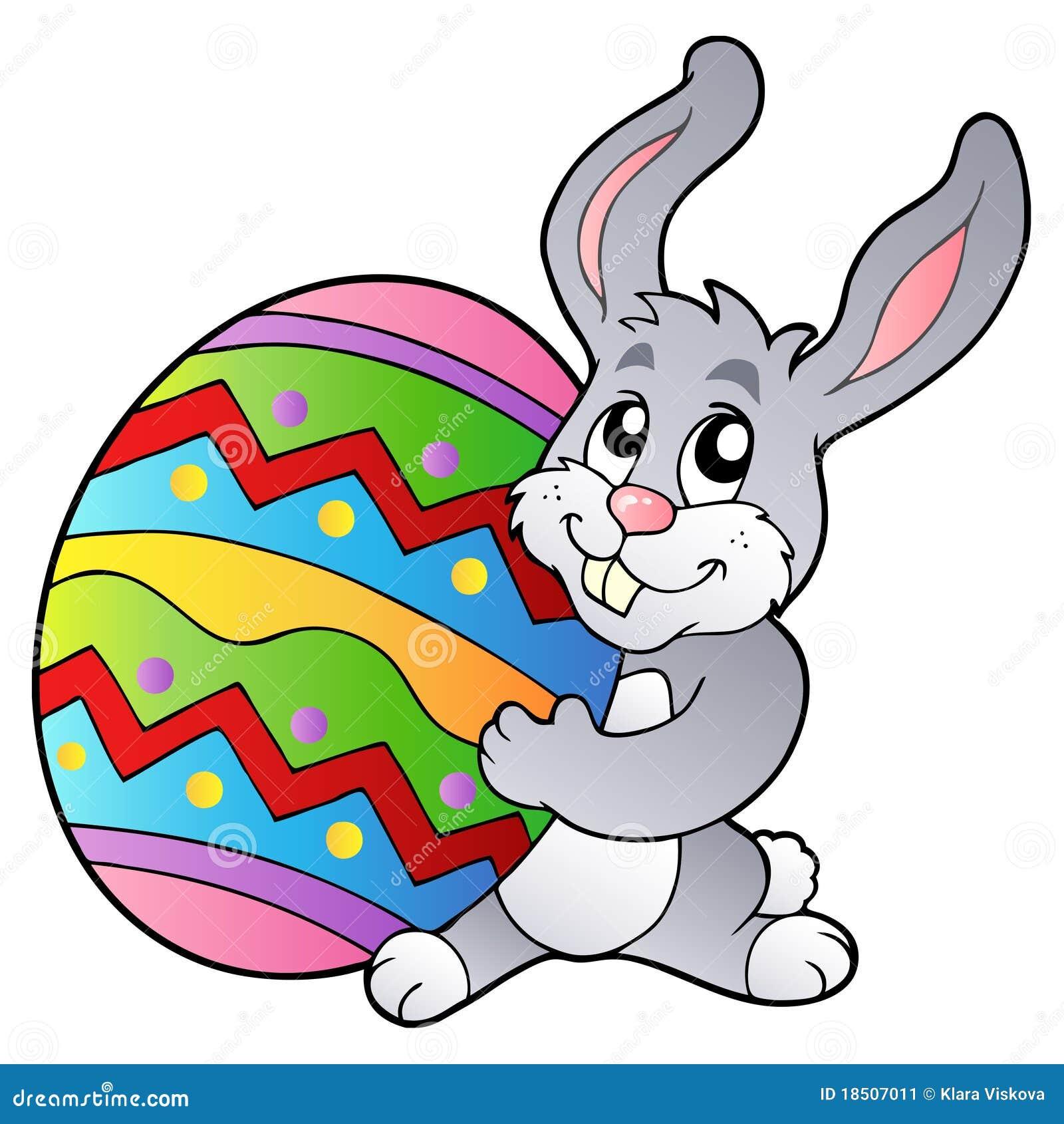 Oeuf de p ques de fixation de lapin de dessin anim illustration de vecteur image 18507011 - Dessin oeuf de paques couleur ...