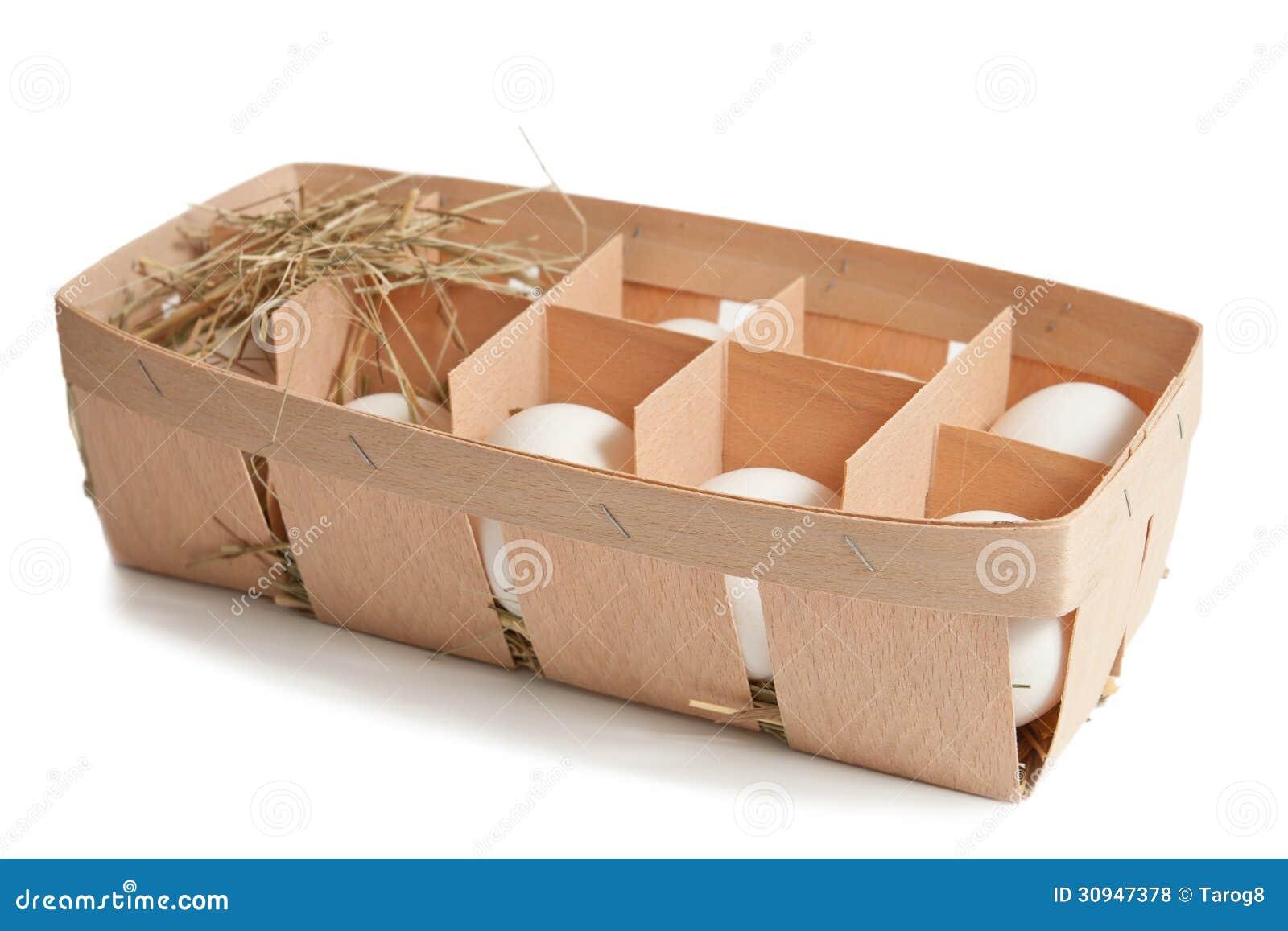 Oeufs dans la boîte d isolement