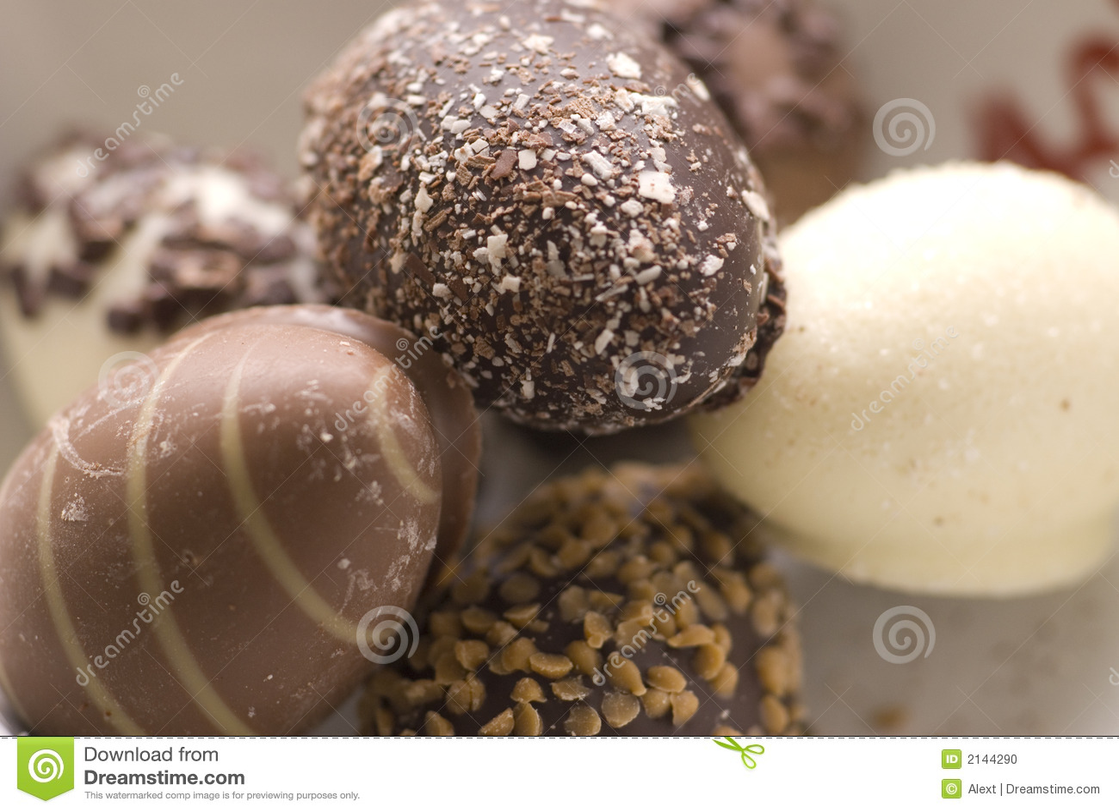 Oeufs de pâques de chocolat