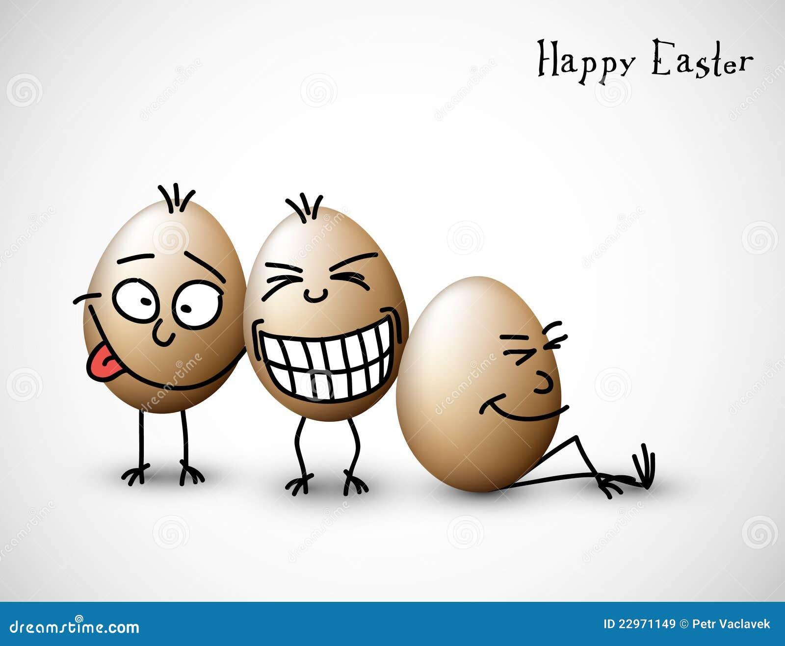 Vector drôle oeufs de Pâques  carte de Pâques Joyeux — Image vectorielle