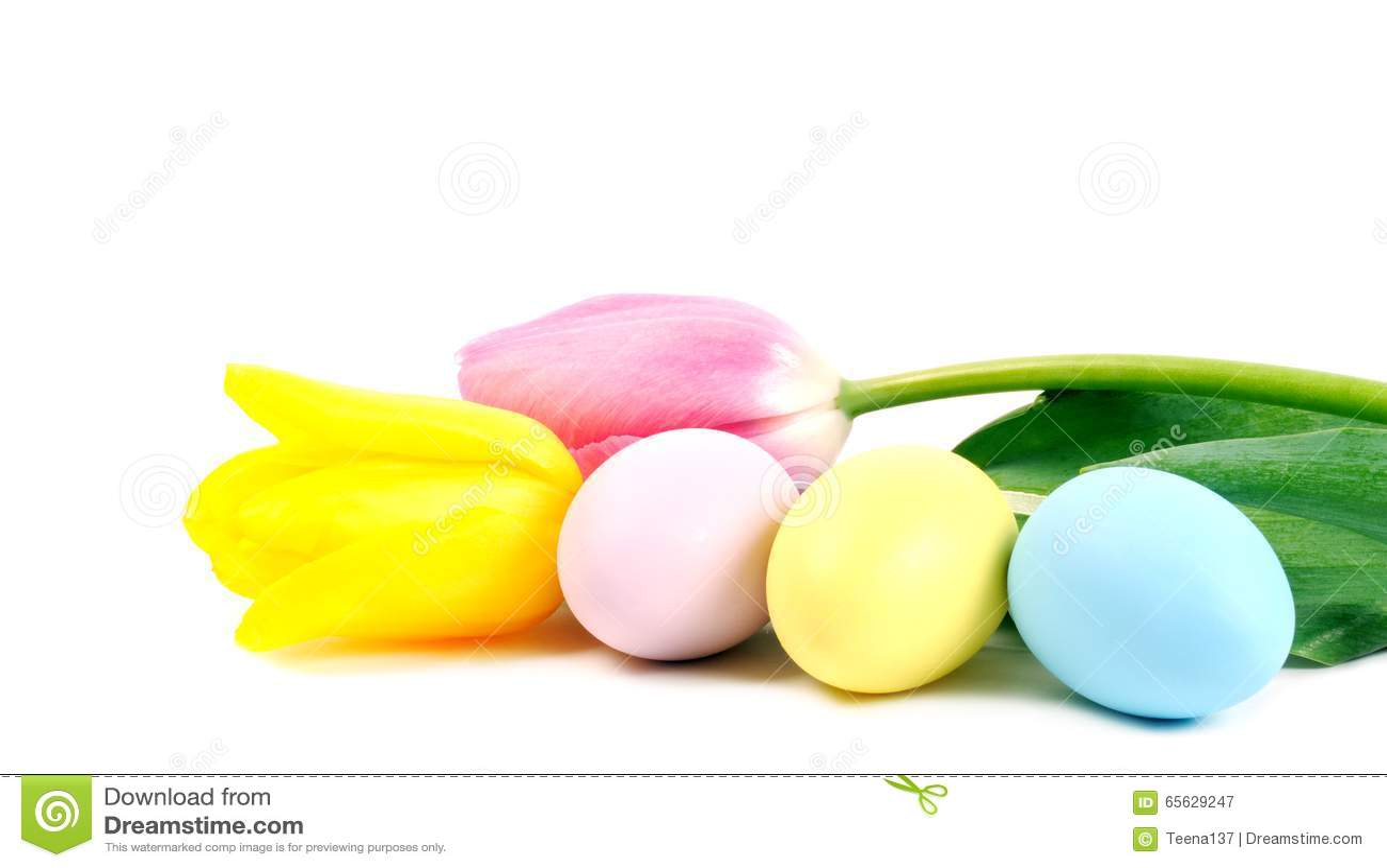 Oeufs et fleurs de pâques