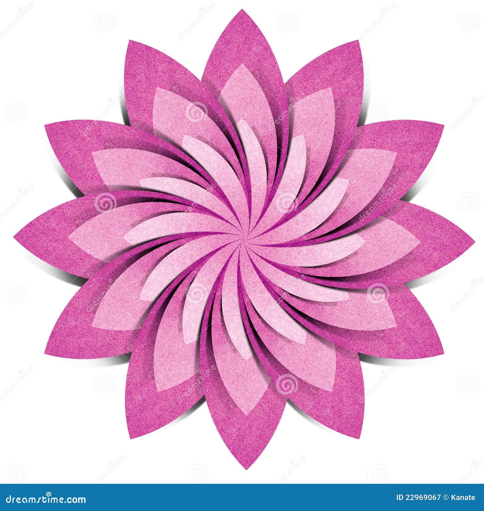 Ofício de papel recicl origami da flor