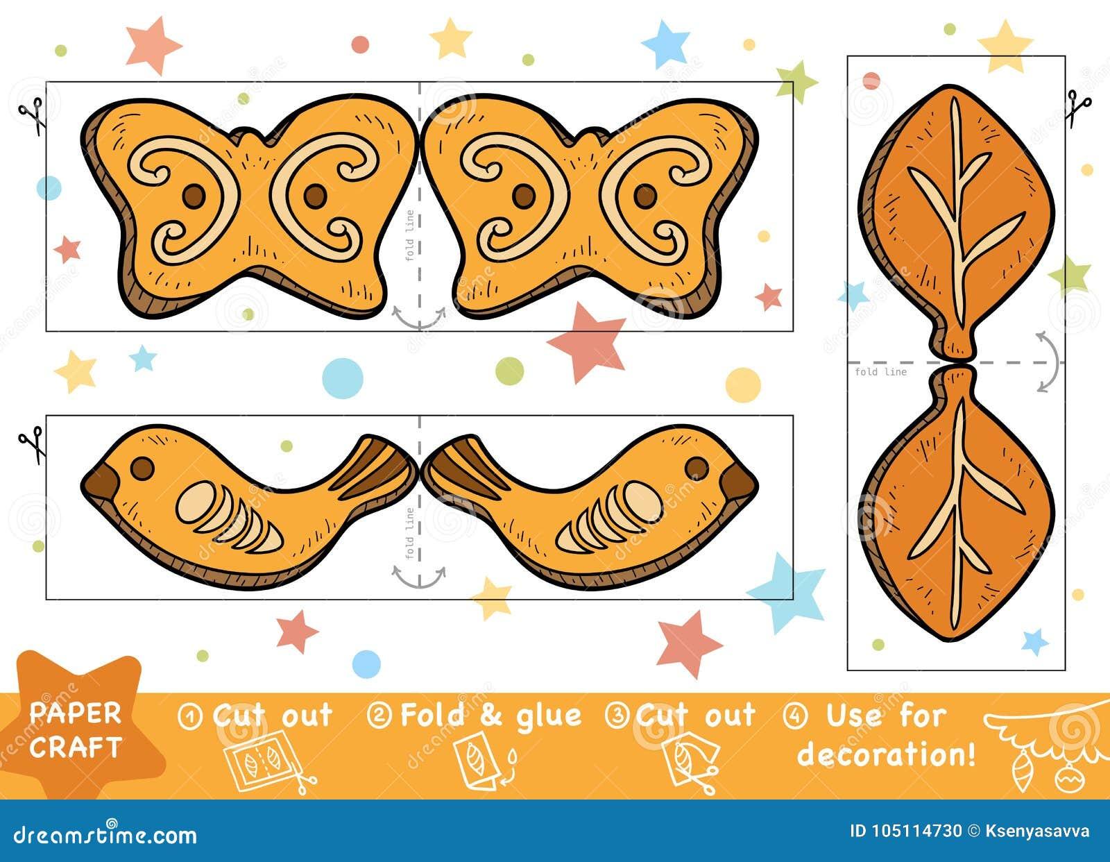 Ofícios de papel do Natal da educação para crianças, cookies do Natal