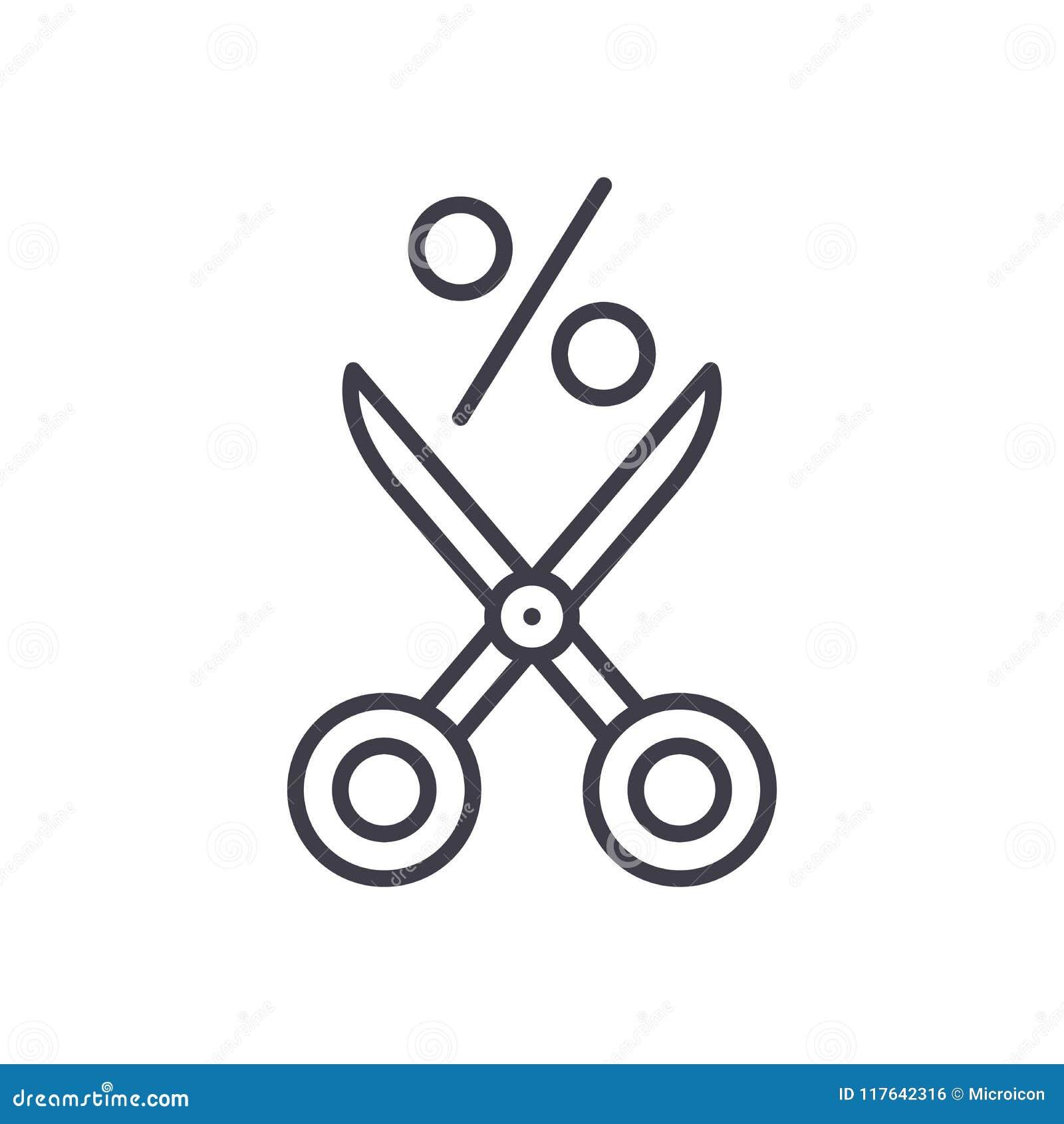 Oferecendo um conceito do ícone do preto do disconto Oferecendo a um disconto o símbolo liso do vetor, sinal, ilustração