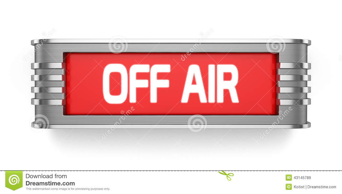 OFF AIR Sign Stock Illustration - Image: 43145789