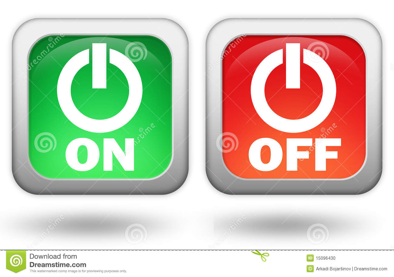 On Off Button Stock Photo - Image: 15096430