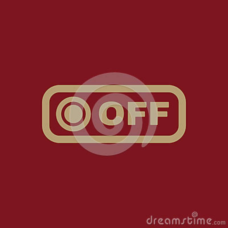 The Off Button Icon. Off Switch Symbol. Flat Stock Vector ...