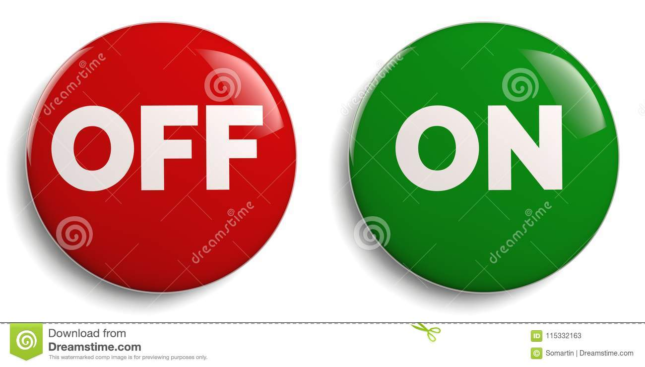 On Off Buttons Round Icon Set Stock Illustration - Illustration of ...