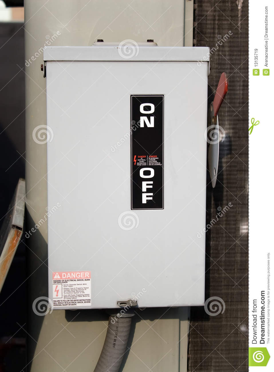 On Off Electrical Switch Royalty Free Stock Images