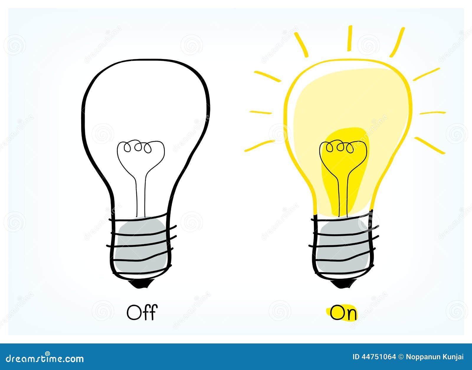 on and off light bulb idea stock vector illustration of light bulb vector art light bulb vector art free