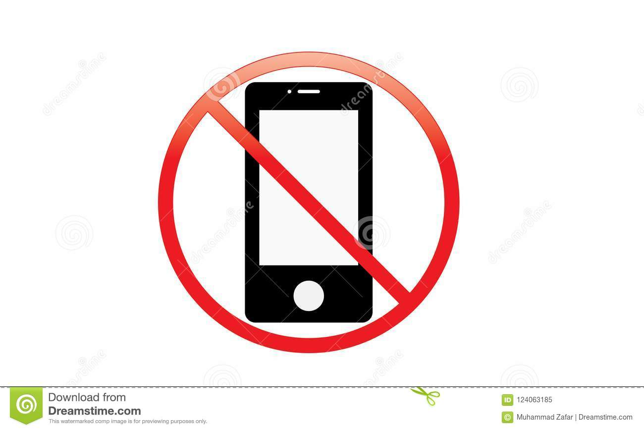 Off Mobile Sign Switch Off Phone Icon No Phone Allowed
