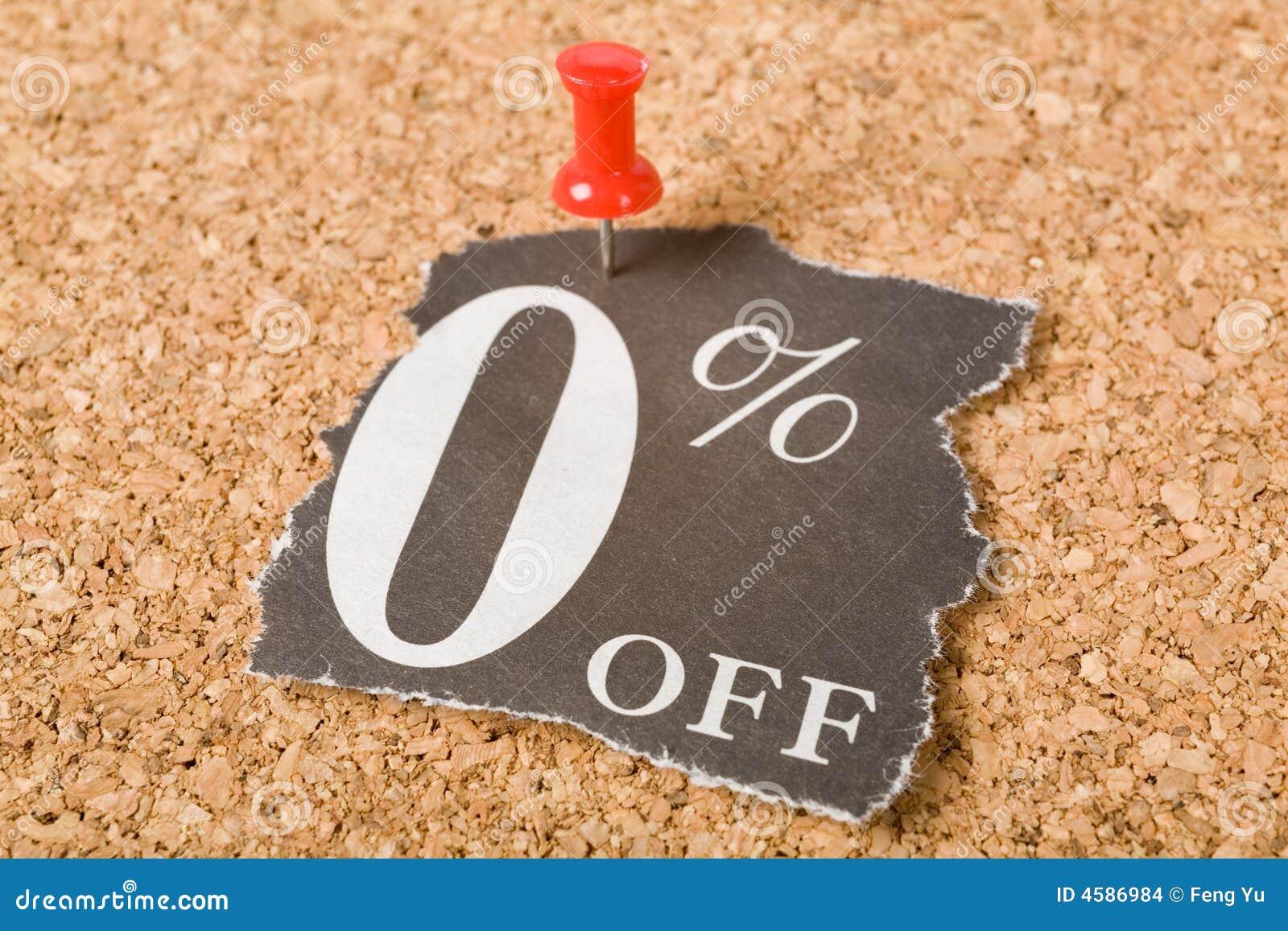 Off percent zero