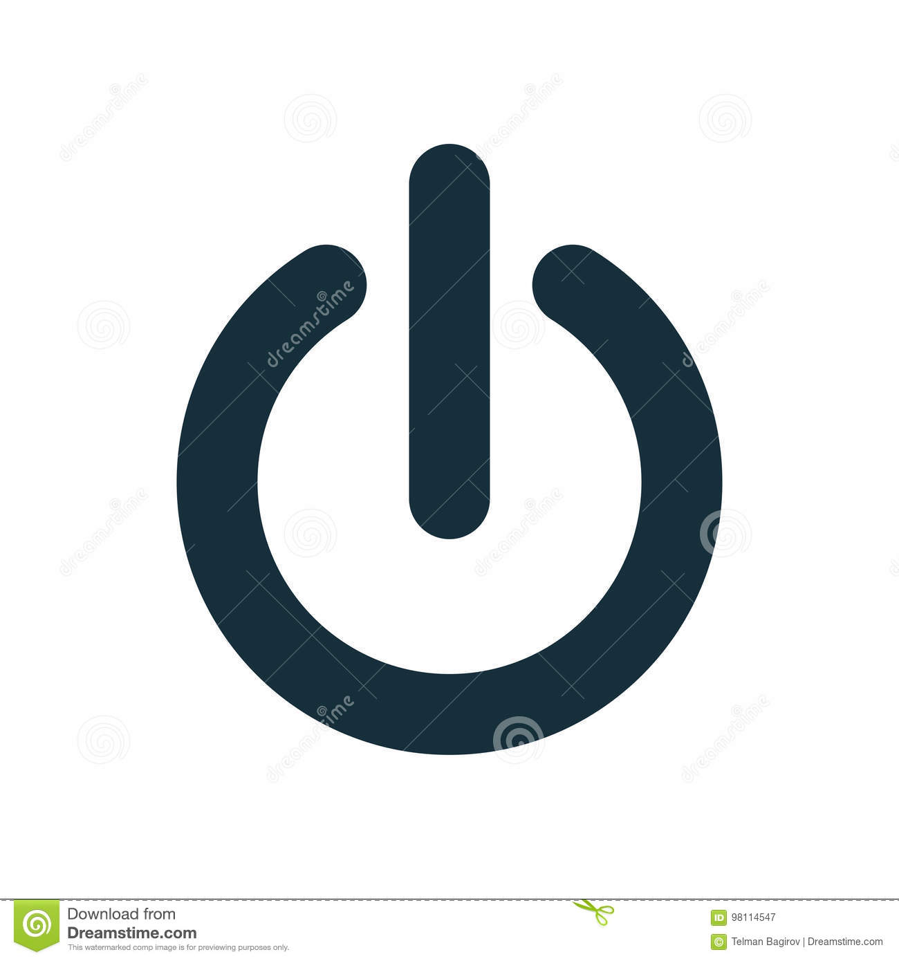 On Off Power Button Switch Icon Stock Illustration Illustration Of