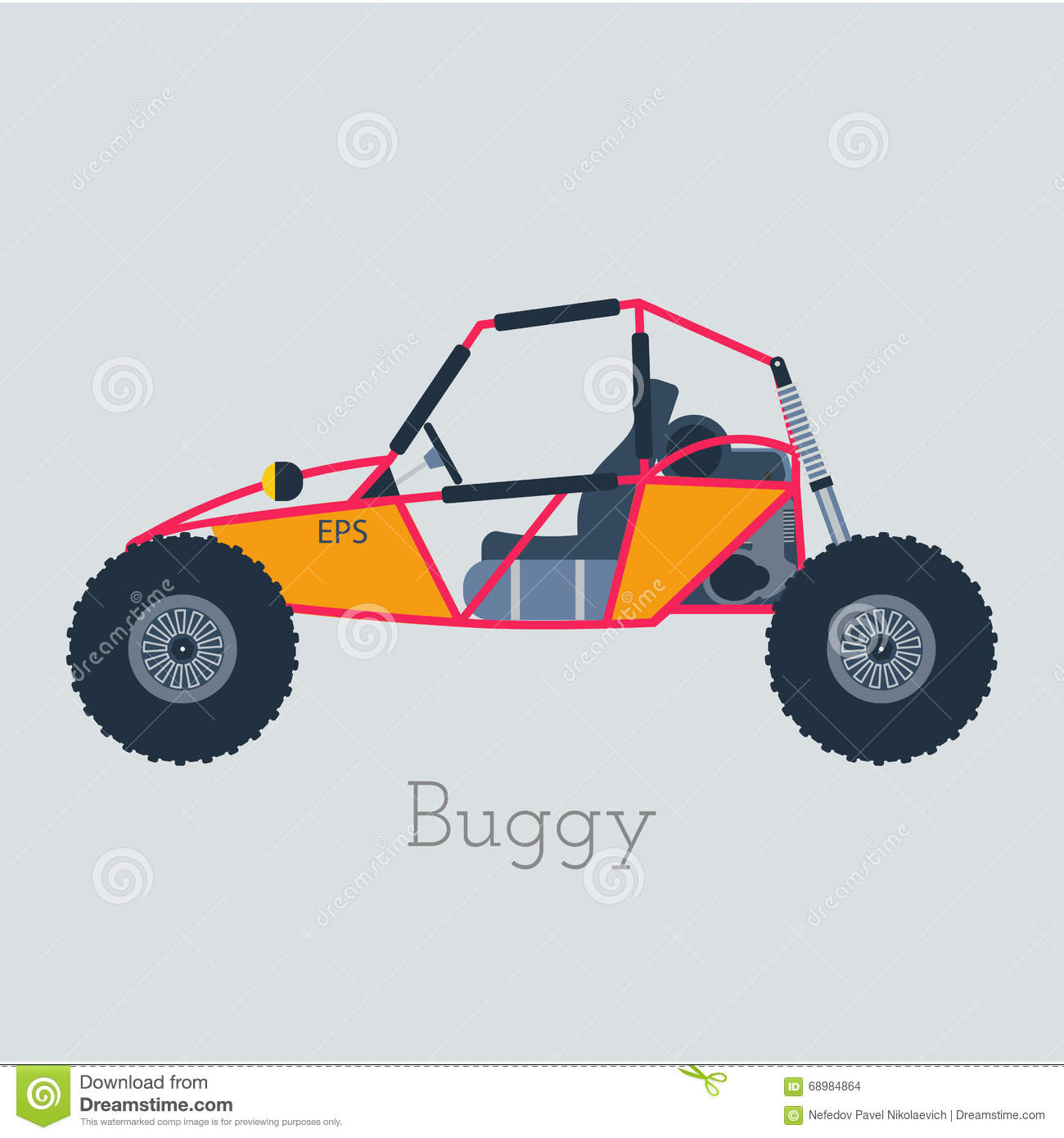 Off - Road Buggy 4x4 Illustration. Buggy Car On Gray Background ...