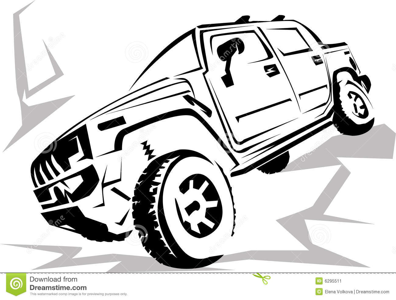 Silhouette Of The Cross-country Vehicle On A White Background. Vector Illustration ...
