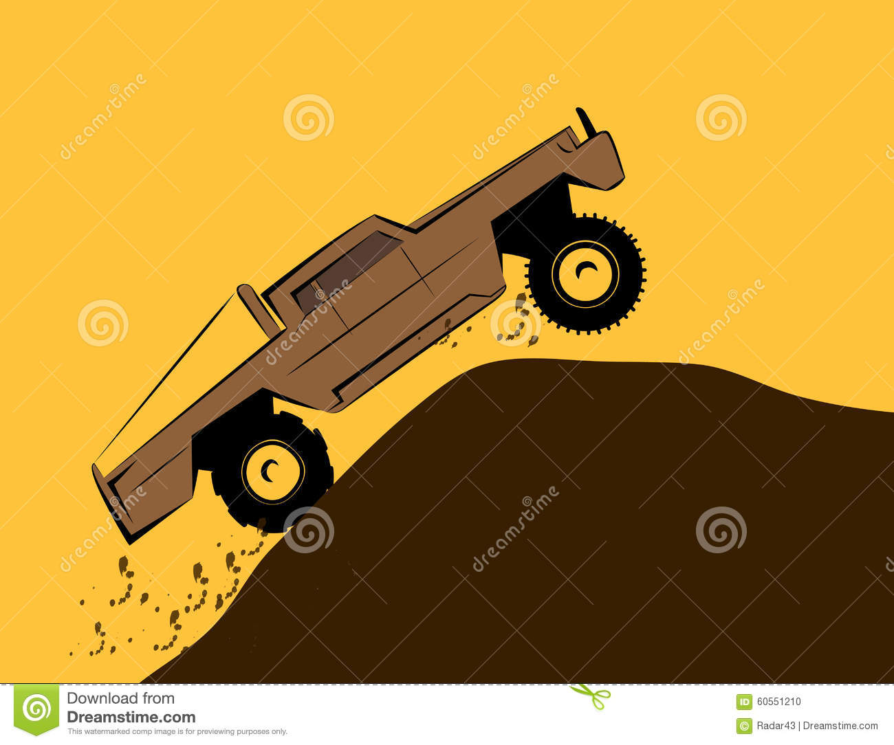 off road car on the big wheels stock photo 27881778. Black Bedroom Furniture Sets. Home Design Ideas