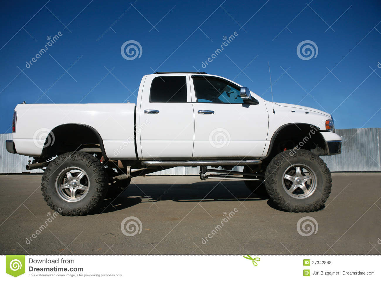 Big Cars: Off-road Car On The Big Wheels Stock Photo
