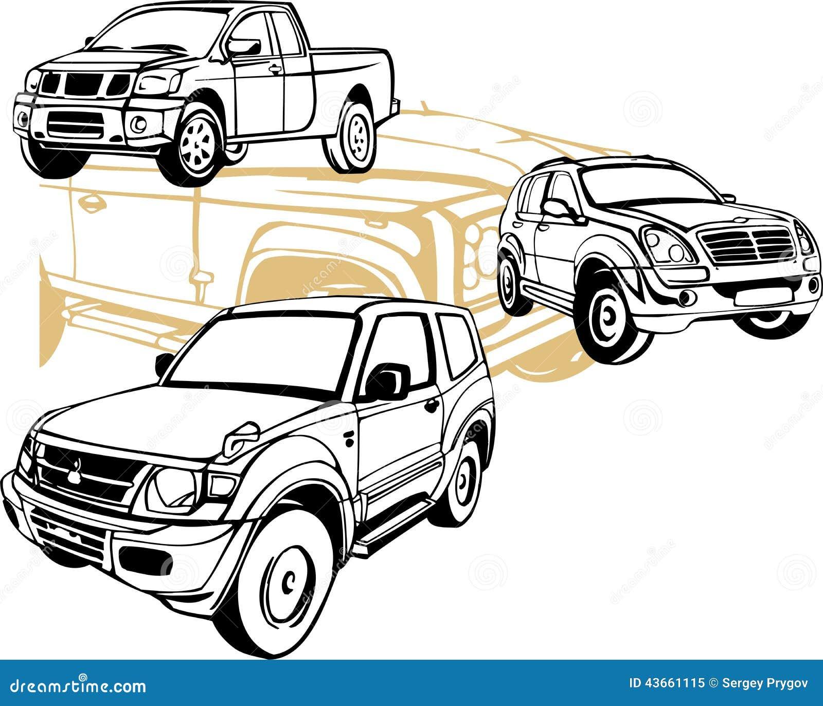 Off-Road Cars - Vector set.