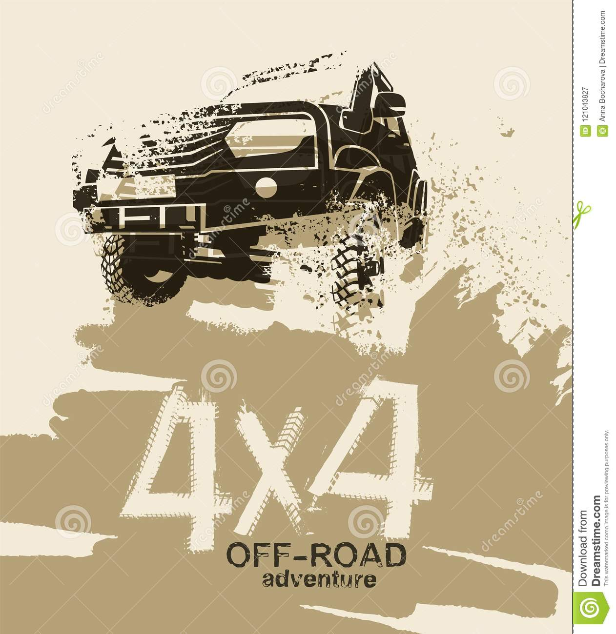 Off Road Quotes 10b Stock Vector Illustration Of Offroad 121043827