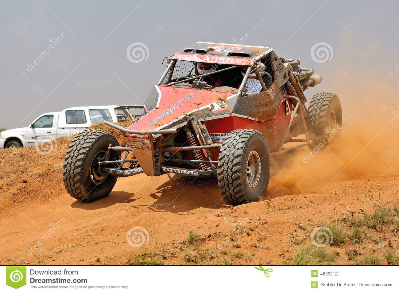 Airborne Off Road Race Car Royalty Free Stock Images Image
