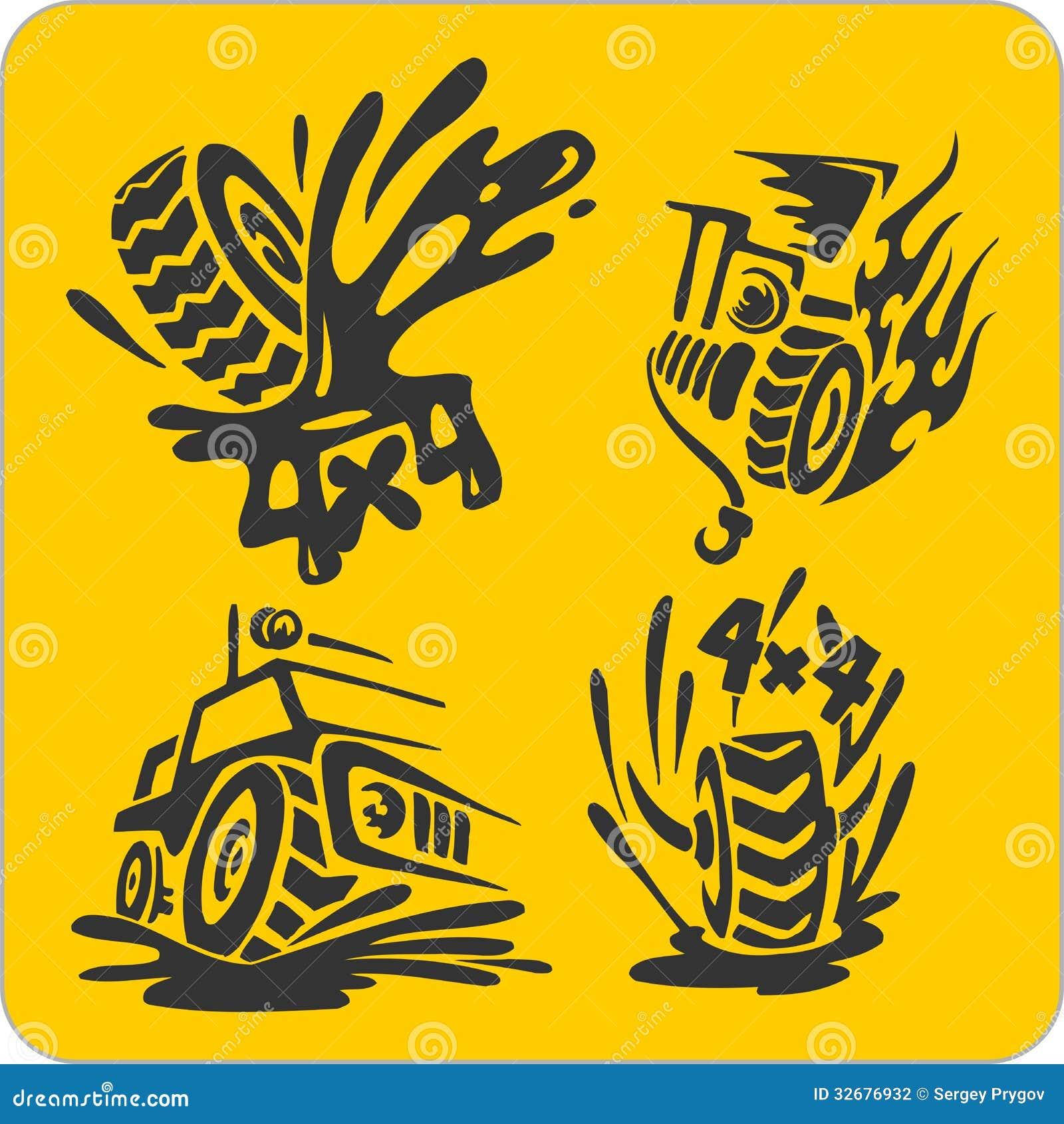 Off road symbols vector set stock vector illustration 32676932 off road symbols vector set buycottarizona