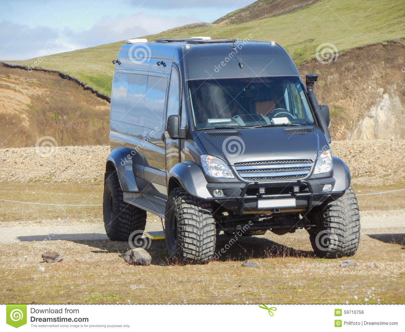 Off Road Transporter In Iceland Stock Photo Image Of