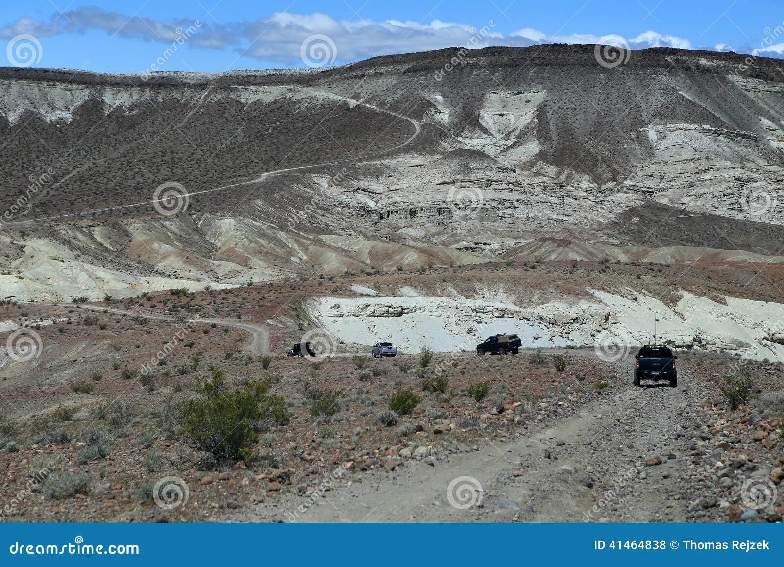 off roading in the desert