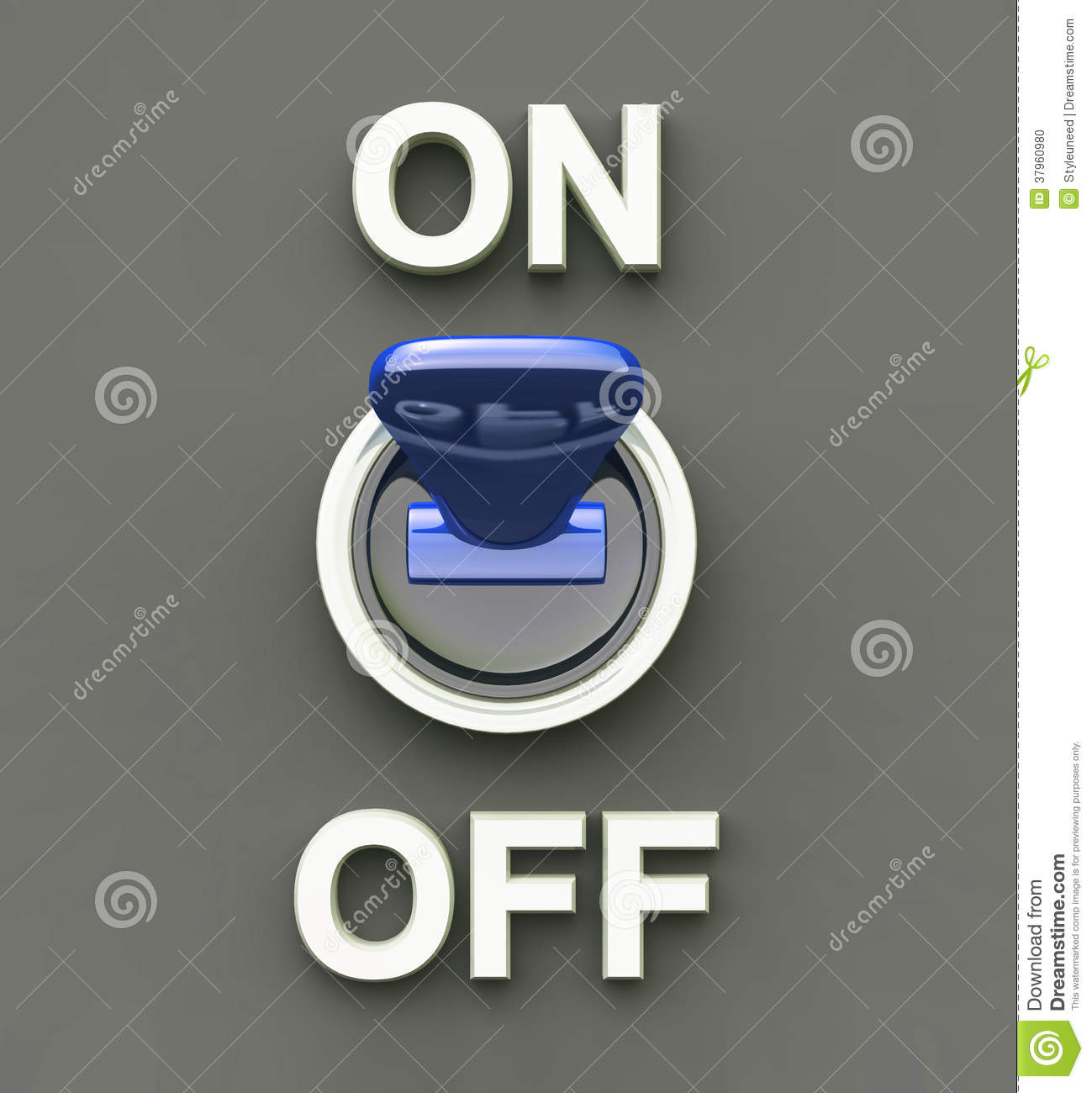 On Off switch graphic stock illustration. Illustration of blue ...