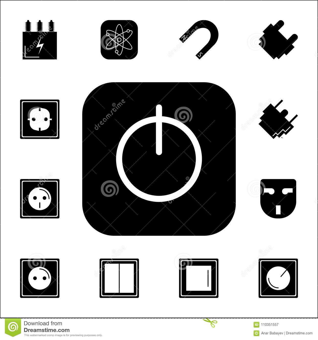 On/Off Switch Icon. Set Of Energy Icons. Premium Quality Graphic ...