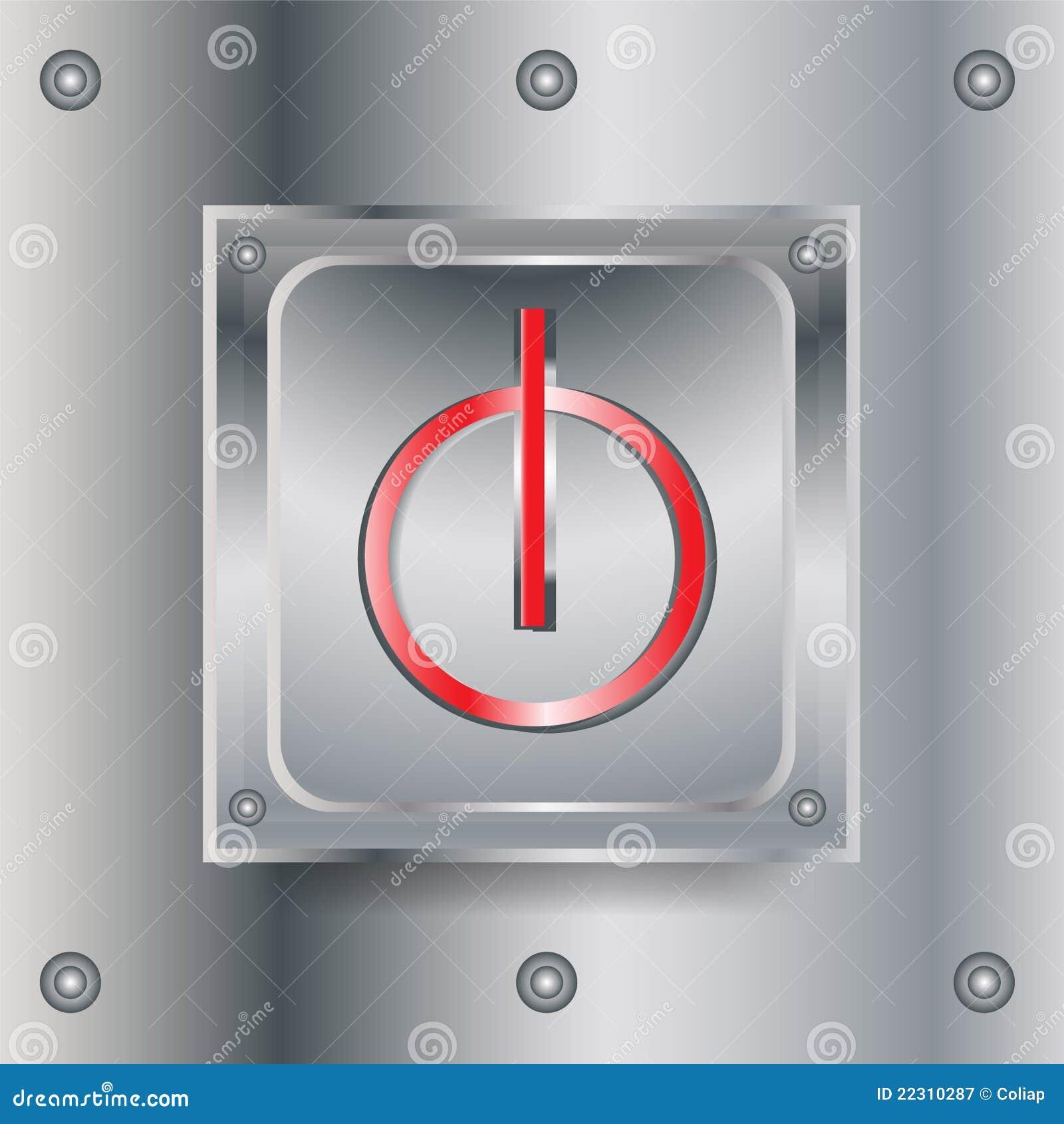 Off switch metallic button