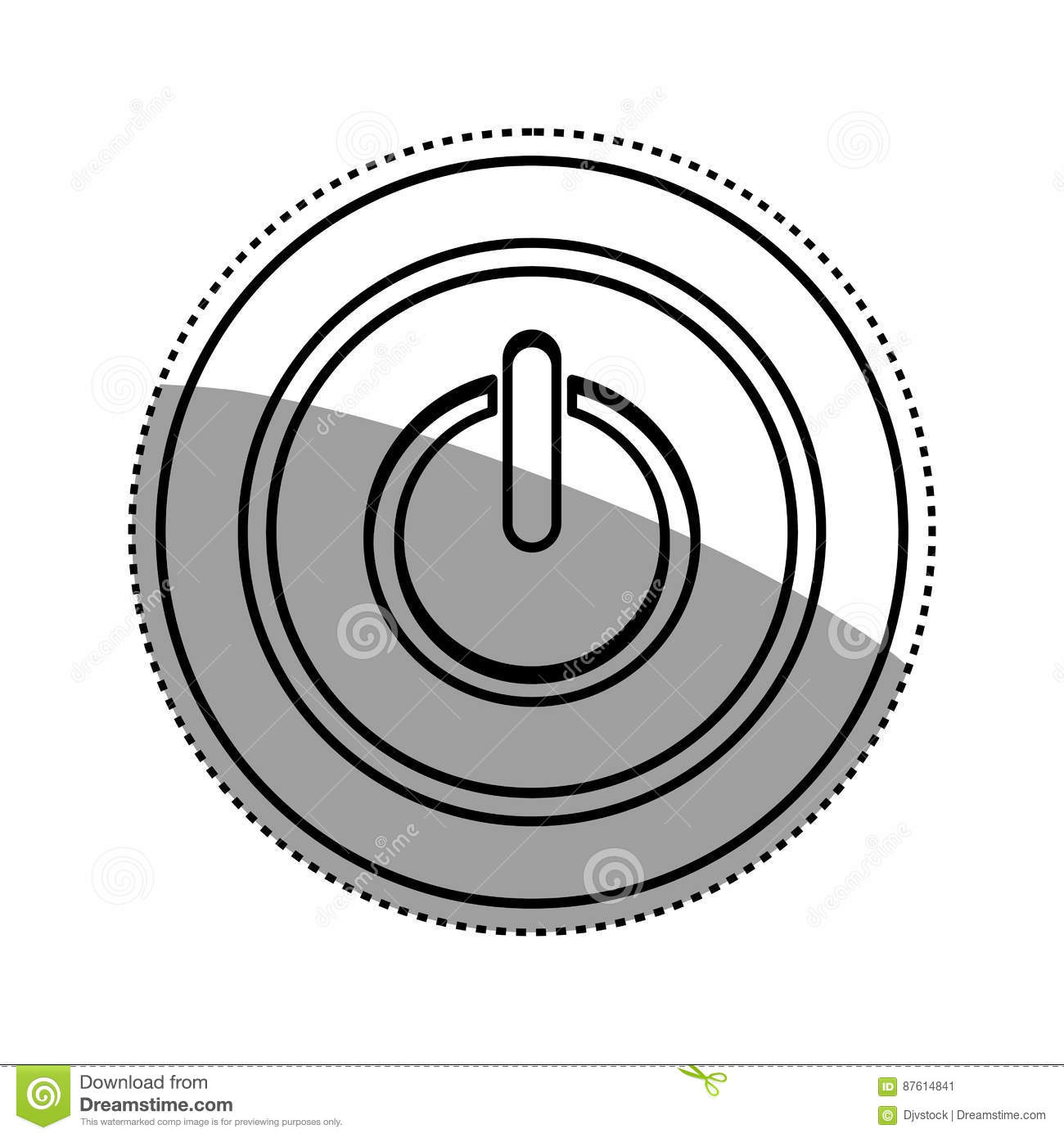 On Off Switch Power Stock Illustration Illustration Of Circle