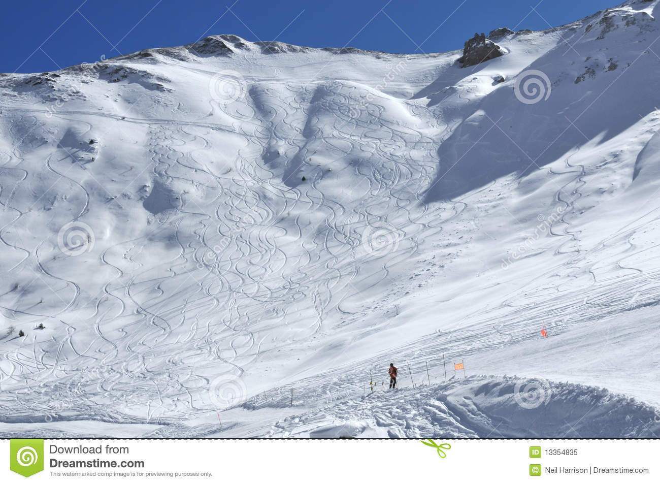 Off trail skiing