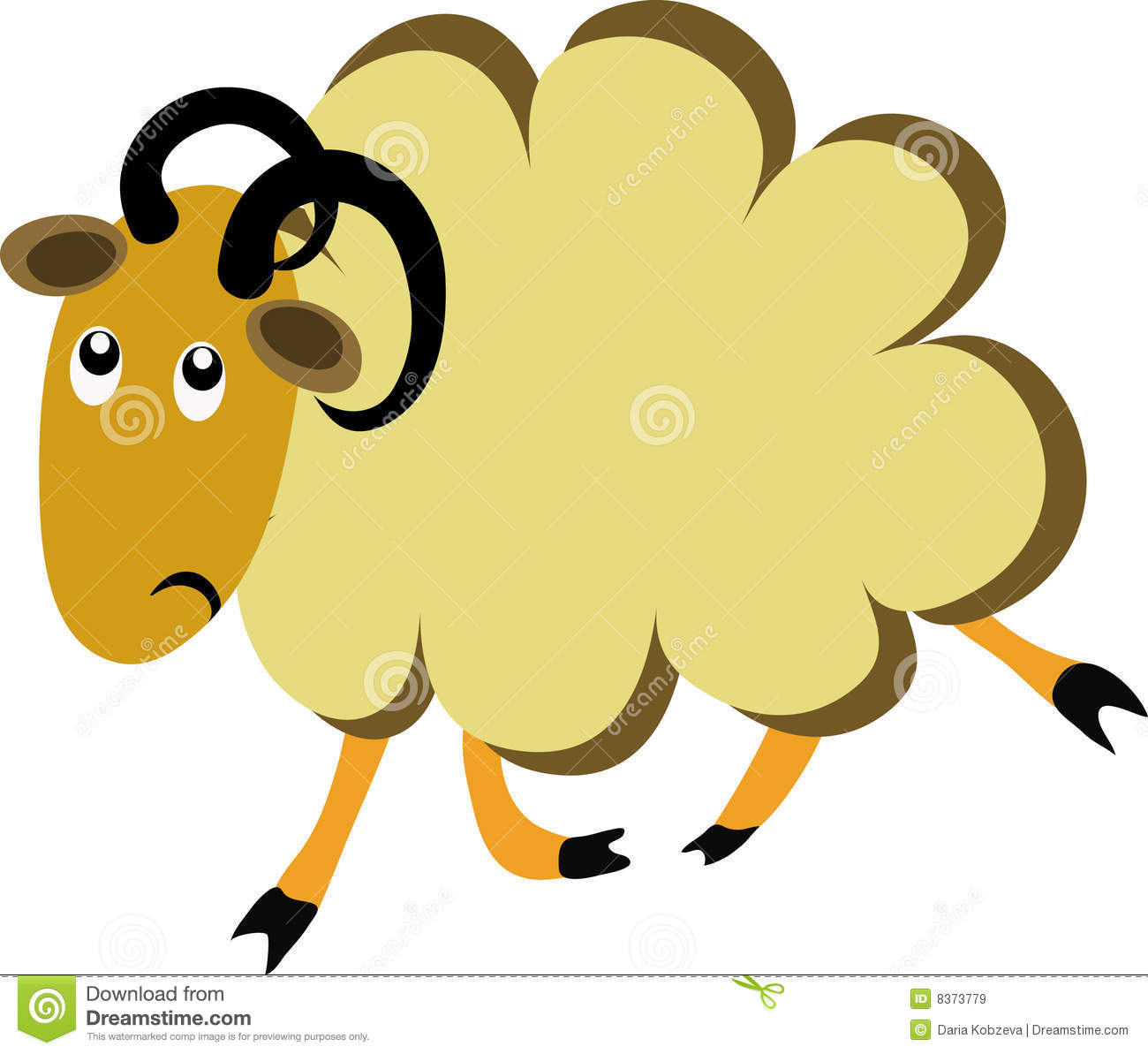 offended cartoon sheep stock vector  image of clip  woolly