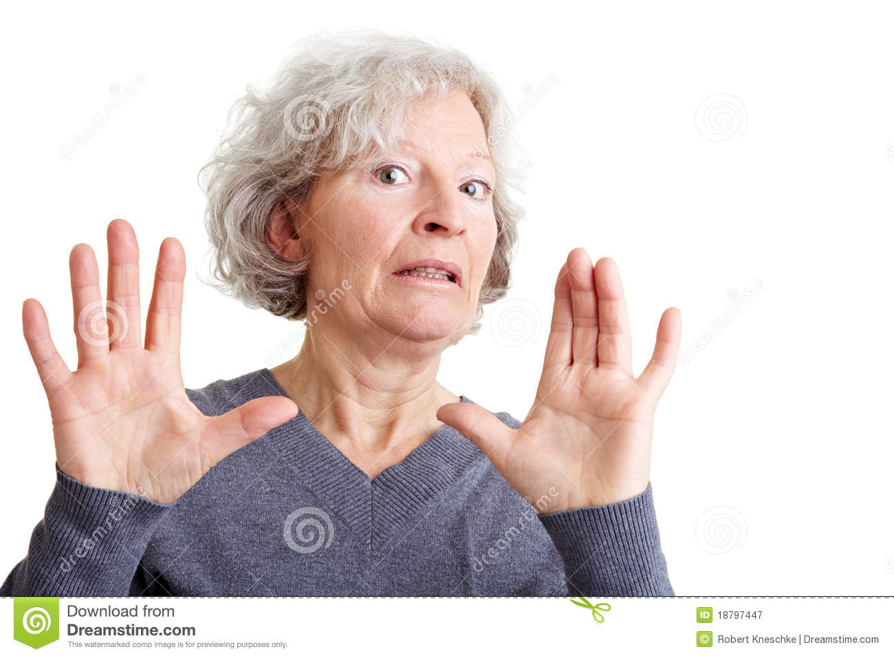 Offended Elderly Woman Rejecting Royalty Free Stock Photography ...