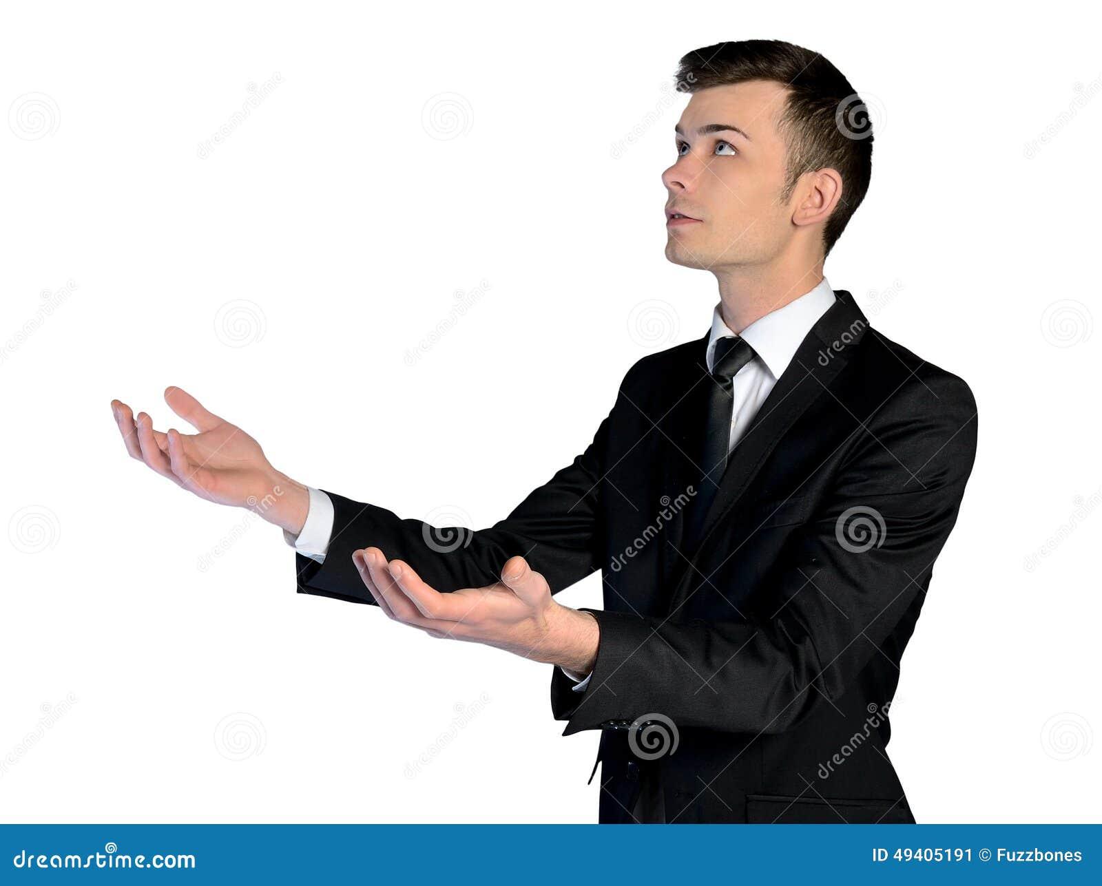Download Offene Hände Des Geschäftsmannes Stockbild - Bild von hand, geben: 49405191