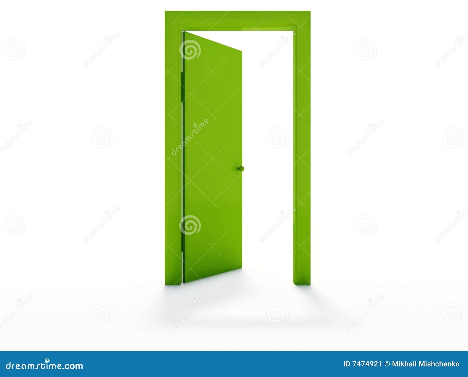 Geöffnete tür zeichnen  Offene Tür Stockbild - Bild: 7474921