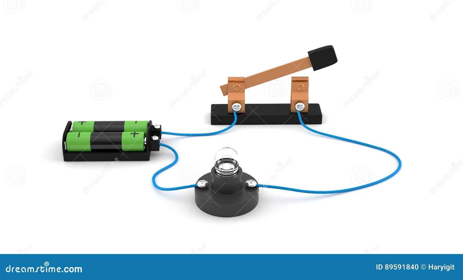 Offener Schalter Der Vertretung Des Elektrischen Stromkreises Unter ...