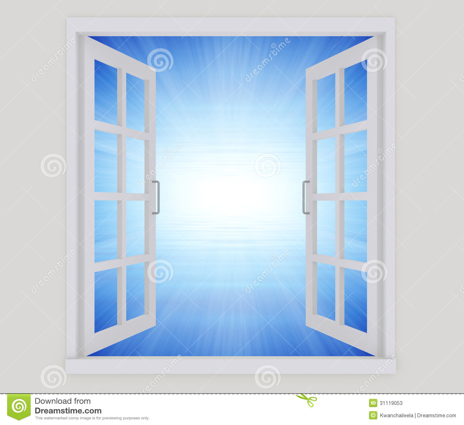 Offenes fenster  Offenes Fenster Stockfotos - Bild: 31119053