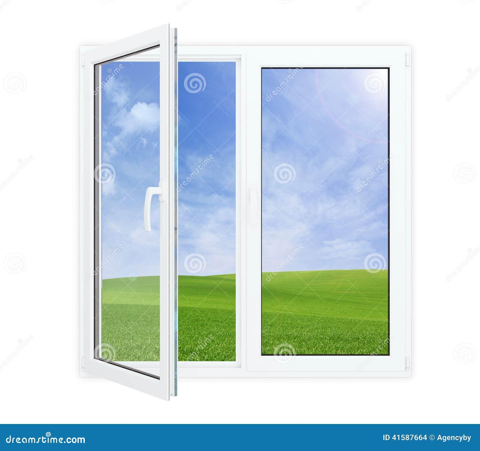 Offenes fenster von außen  Offenes Fenster Mit Malerischer Ansicht Stockfoto - Bild: 41587664