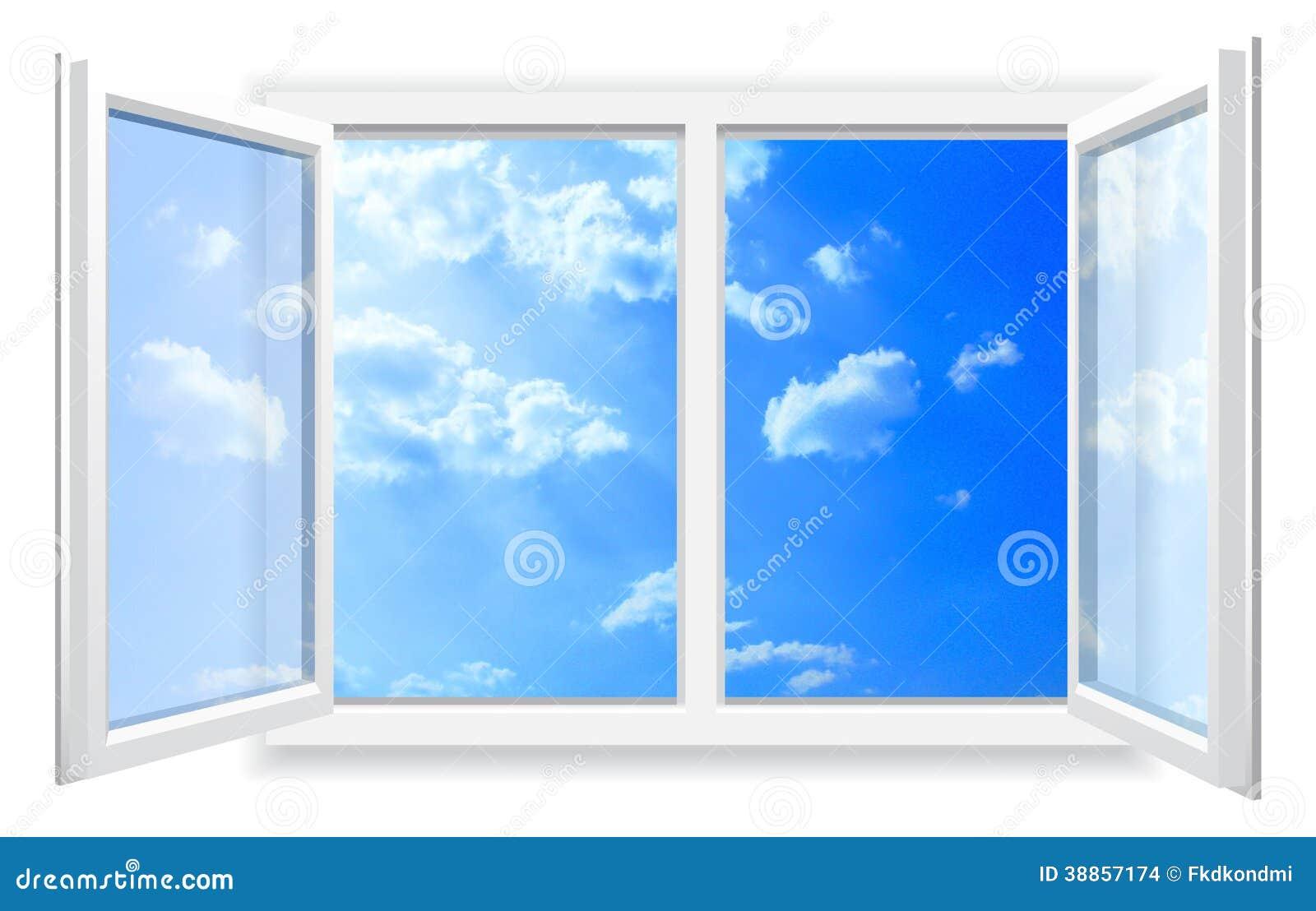 Offenes fenster himmel  Offenes Fenster Und Der Bewölkte Himmel. Stock Abbildung - Bild ...