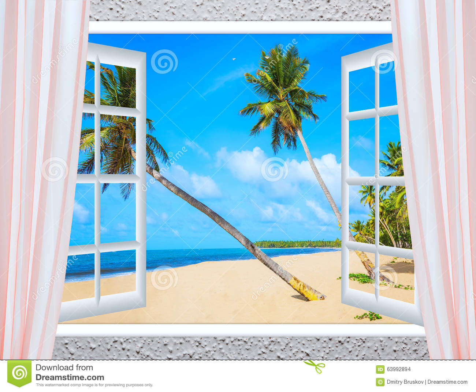 Offenes fenster meer  Offenes Fenster Zum Meer Stockfoto - Bild: 63992894