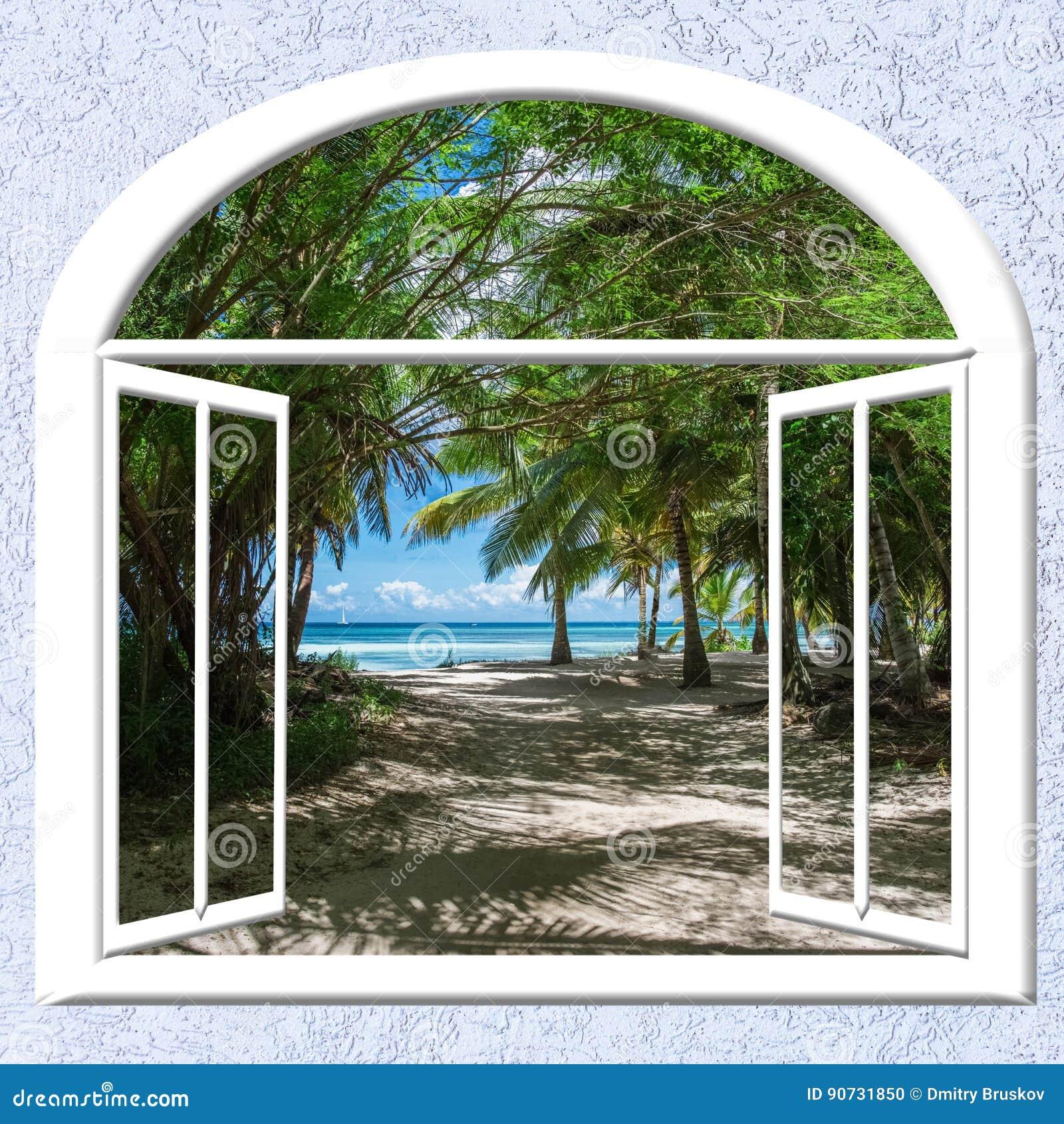 Offenes fenster meer  Offenes Fenster Zum Meer Stockfoto - Bild: 90731850
