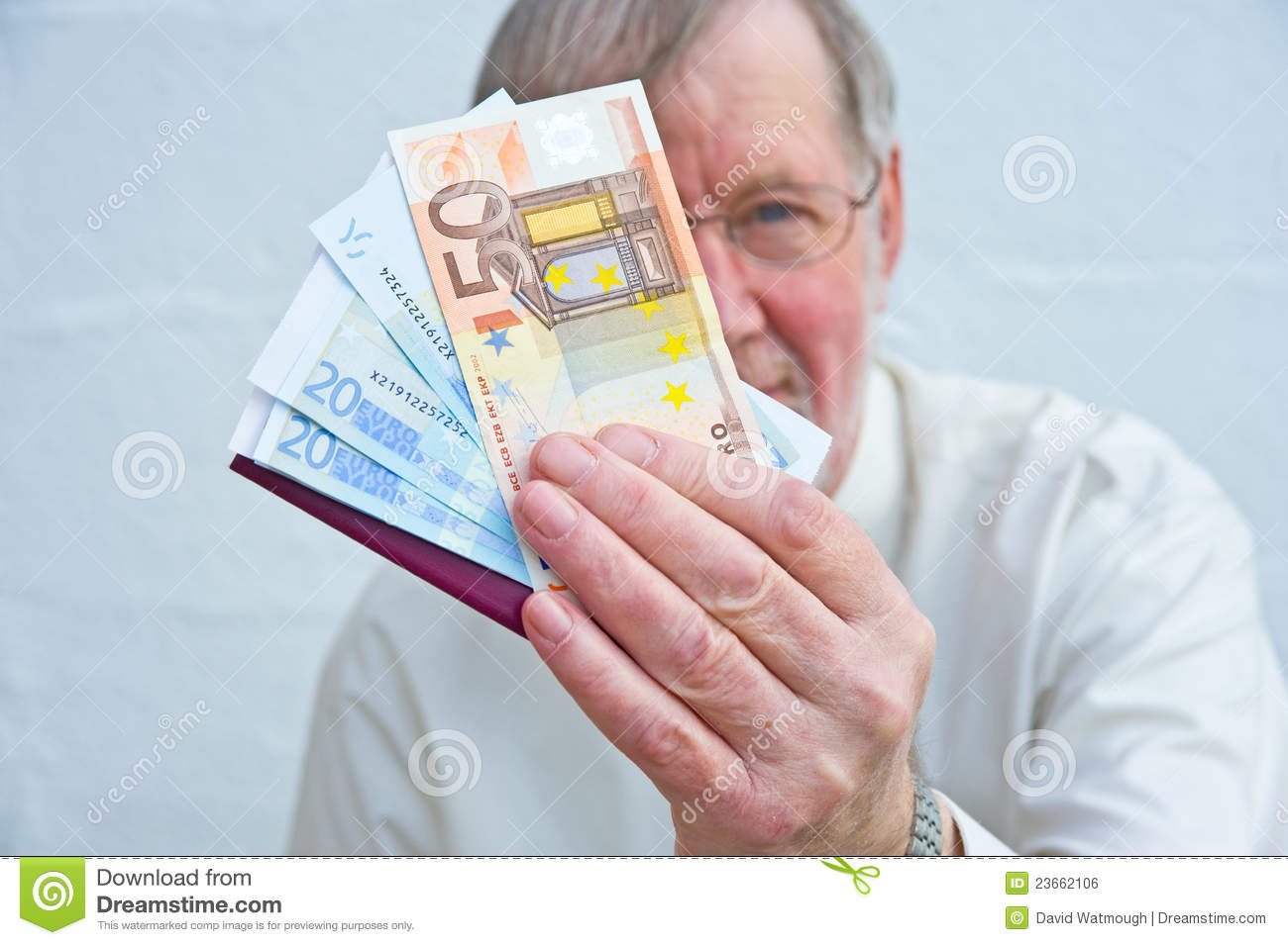 Offer to pay in Euros.