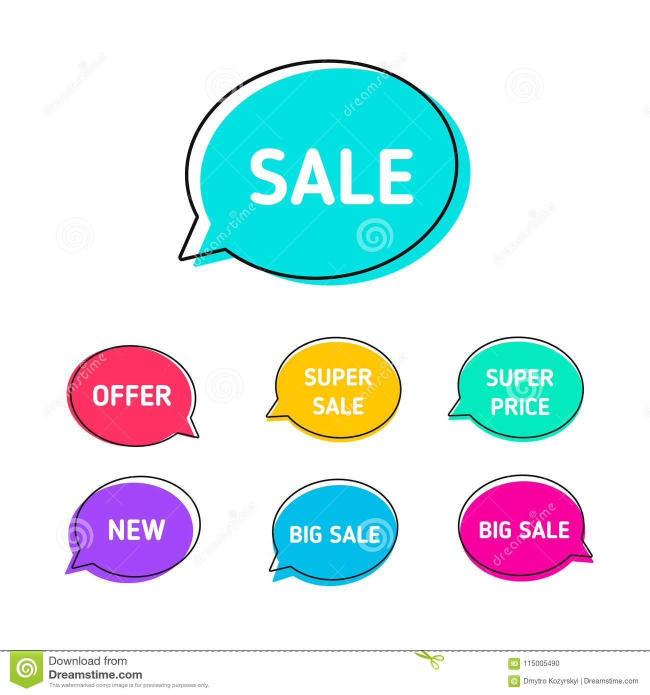 Offers Banner. Colorful Bubble With Promotion Text Sell, Supper Sale ...
