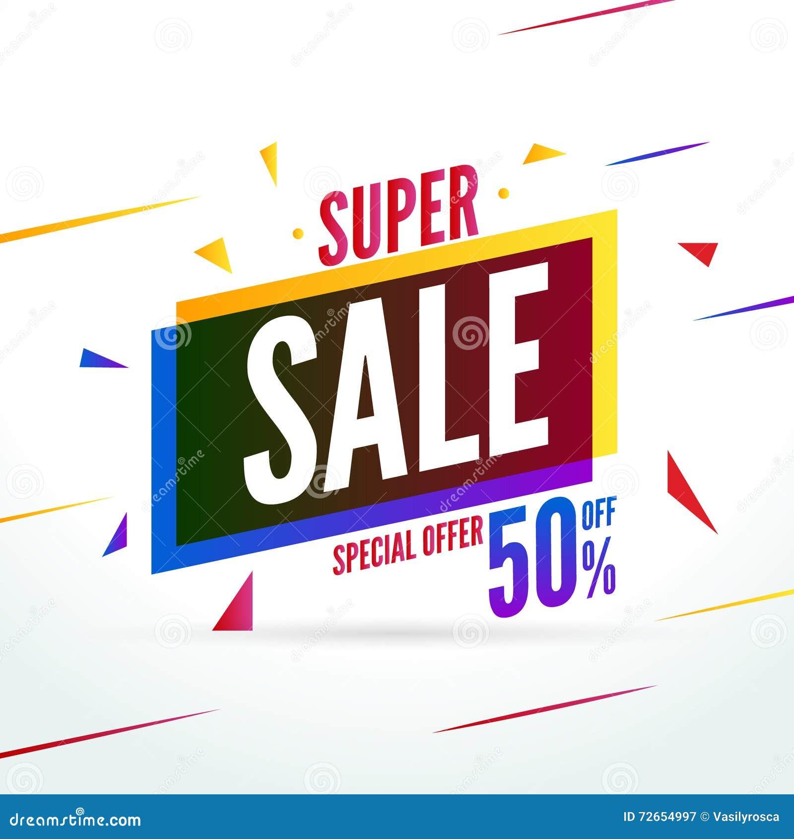 Offerta speciale di vendita eccellente 50 fuori dal baner di sconto Insegna del mercato di promozione di vettore da vendere