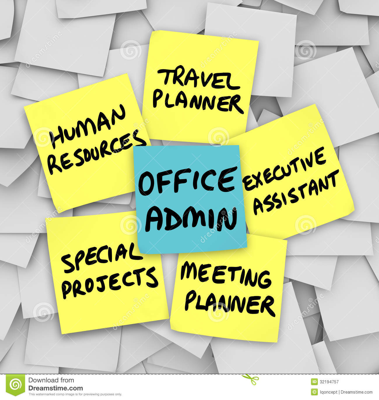 Office administrator job duties meeting travel planner executive stock illustration - Office administrator job responsibilities ...