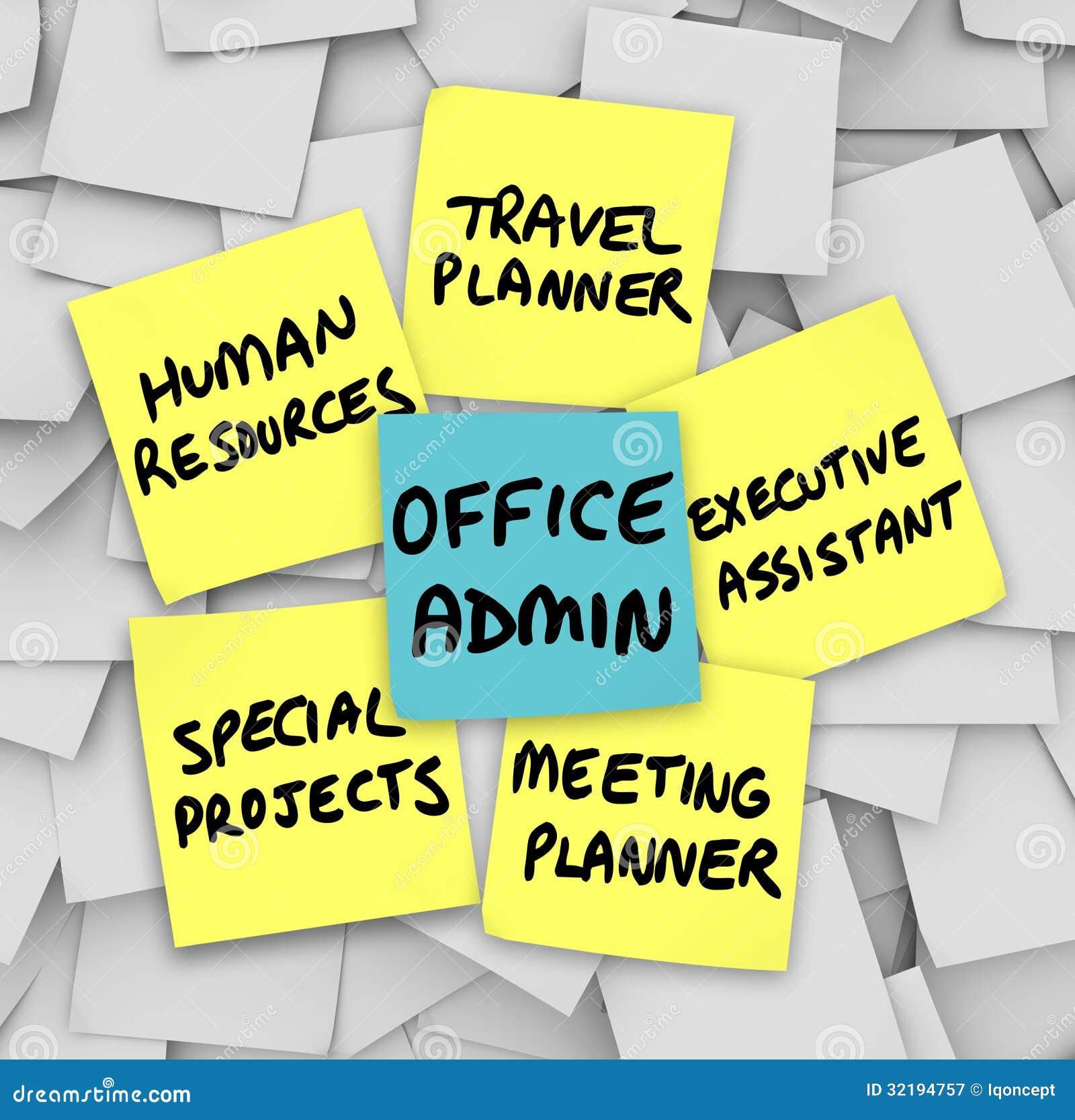 Office Administrator Job Duties Meeting Travel Planner
