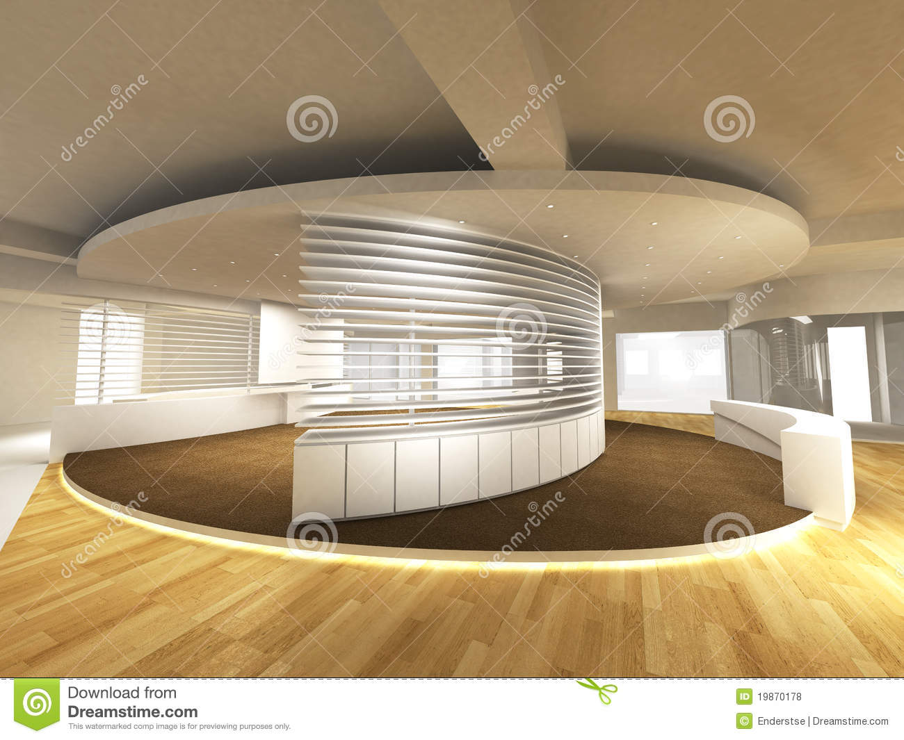 Office Area With Reception Counter Royalty Free Stock