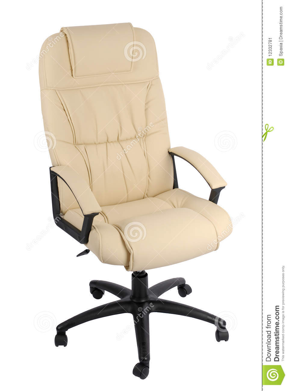 Office Armchair Of Leather Stock Image Image 12332781