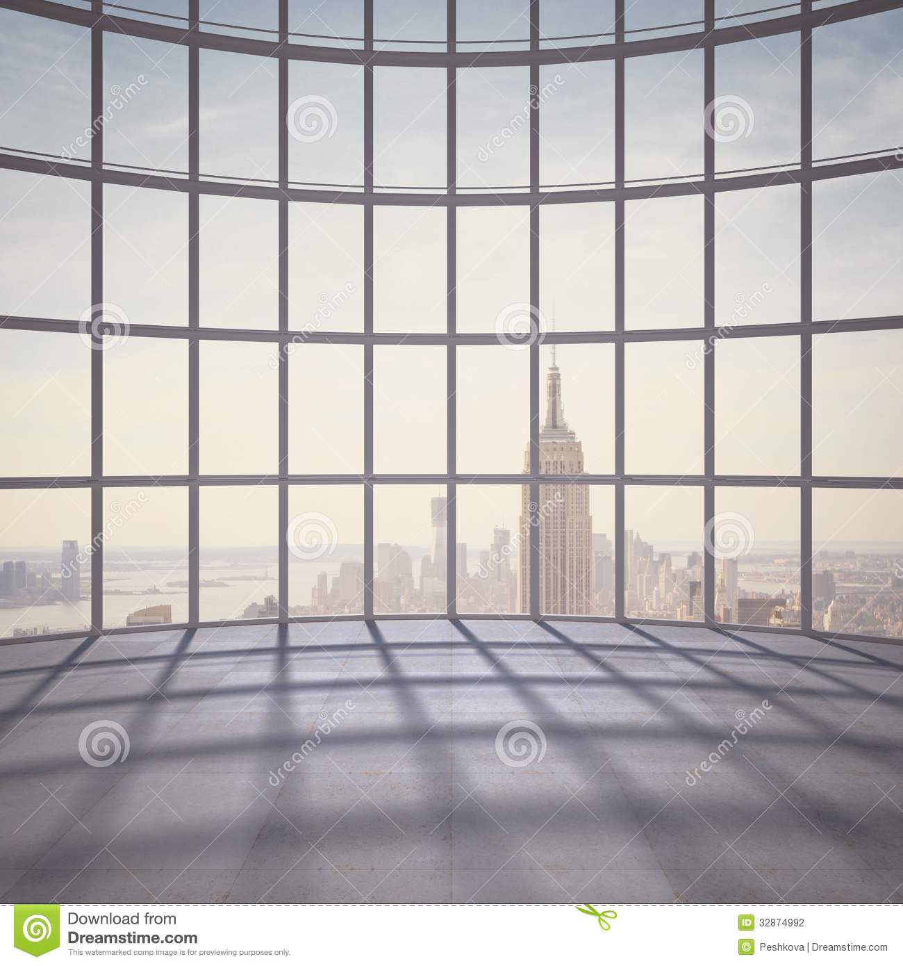 Empty office room with window - Office With Big Window Stock Photography Image 32874992